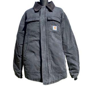Carhartt Sandstone Arctic quilt lined black coat